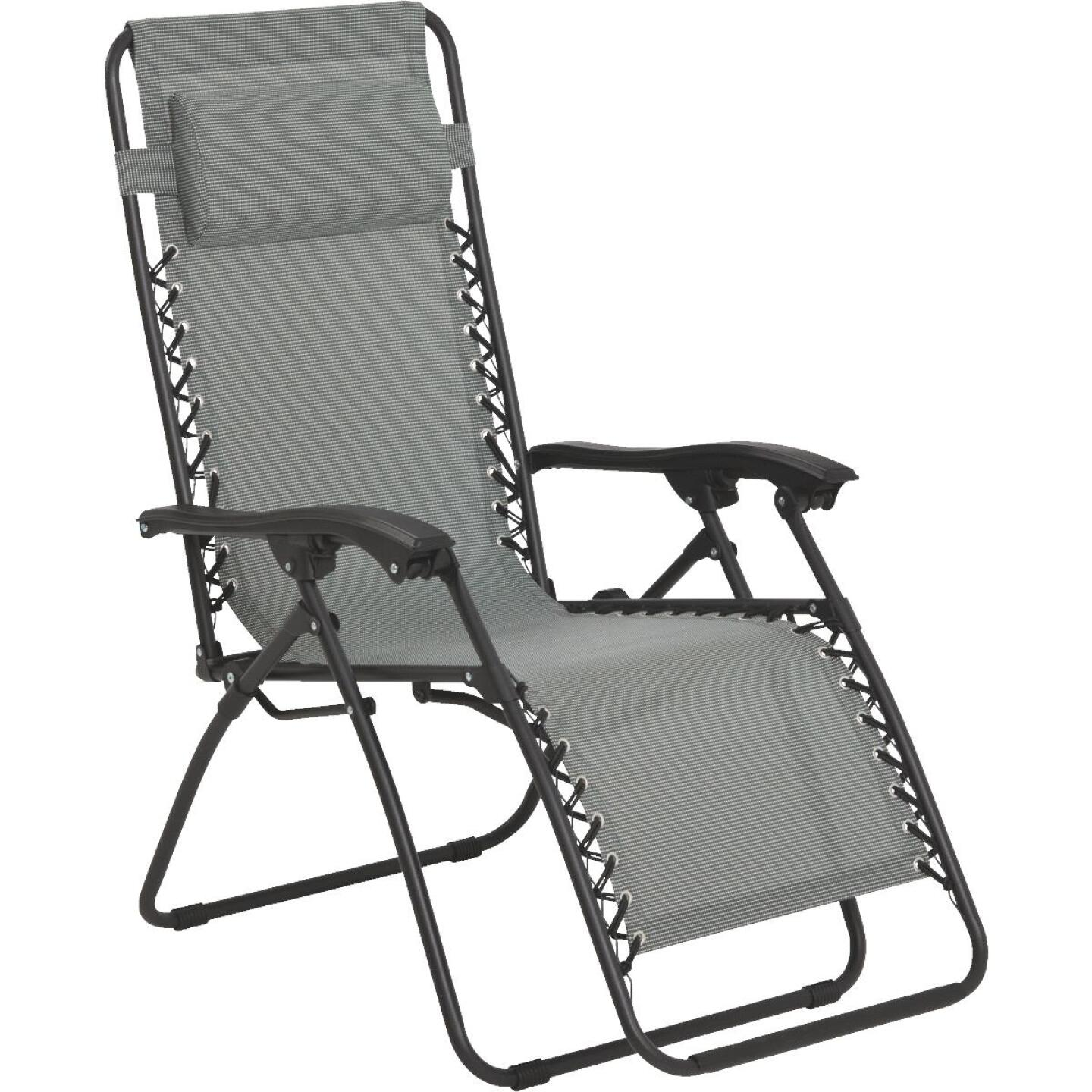 Outdoor Expressions Seville Gray Convertible Lounge Chair Image 1