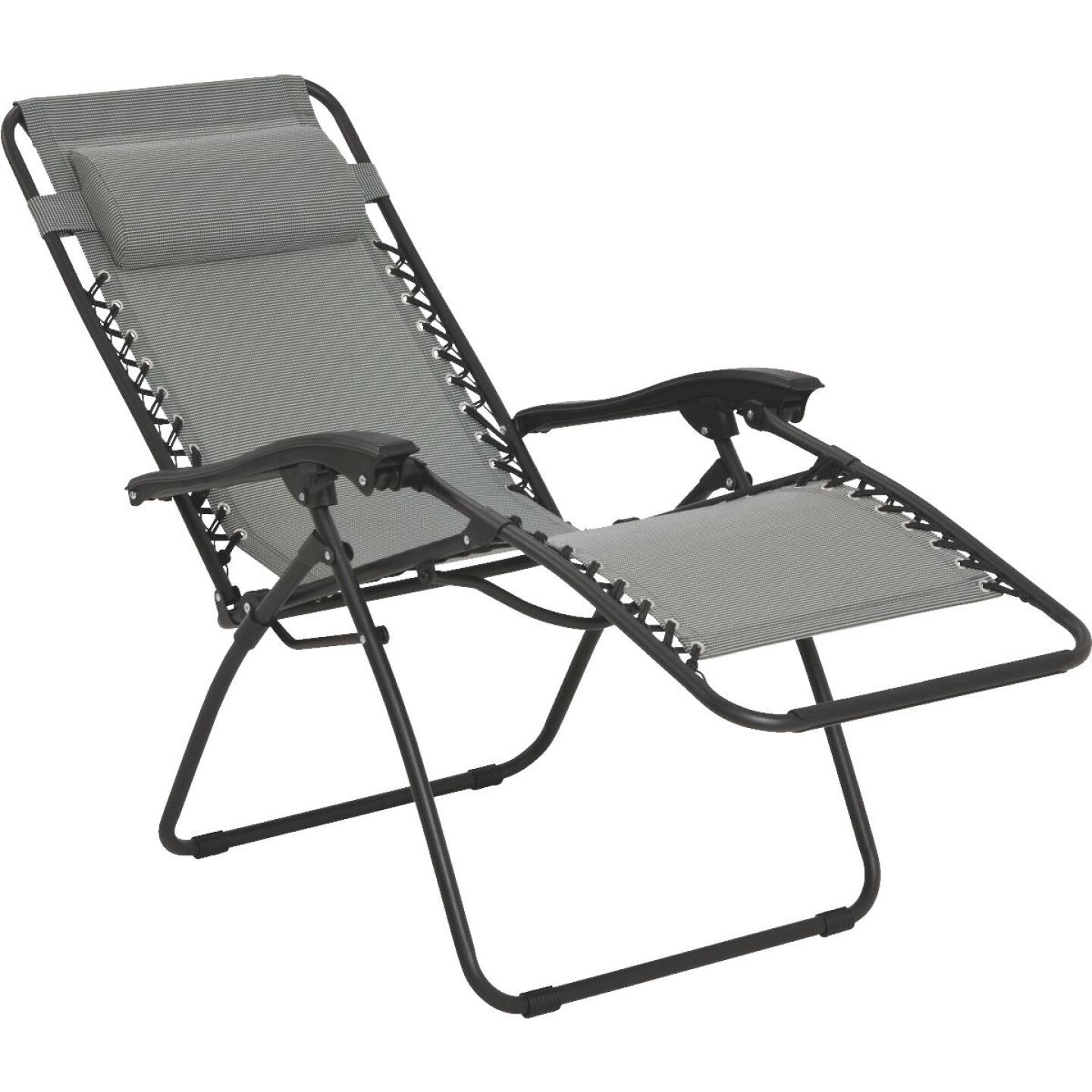 Outdoor Expressions Seville Gray Convertible Lounge Chair Image 2