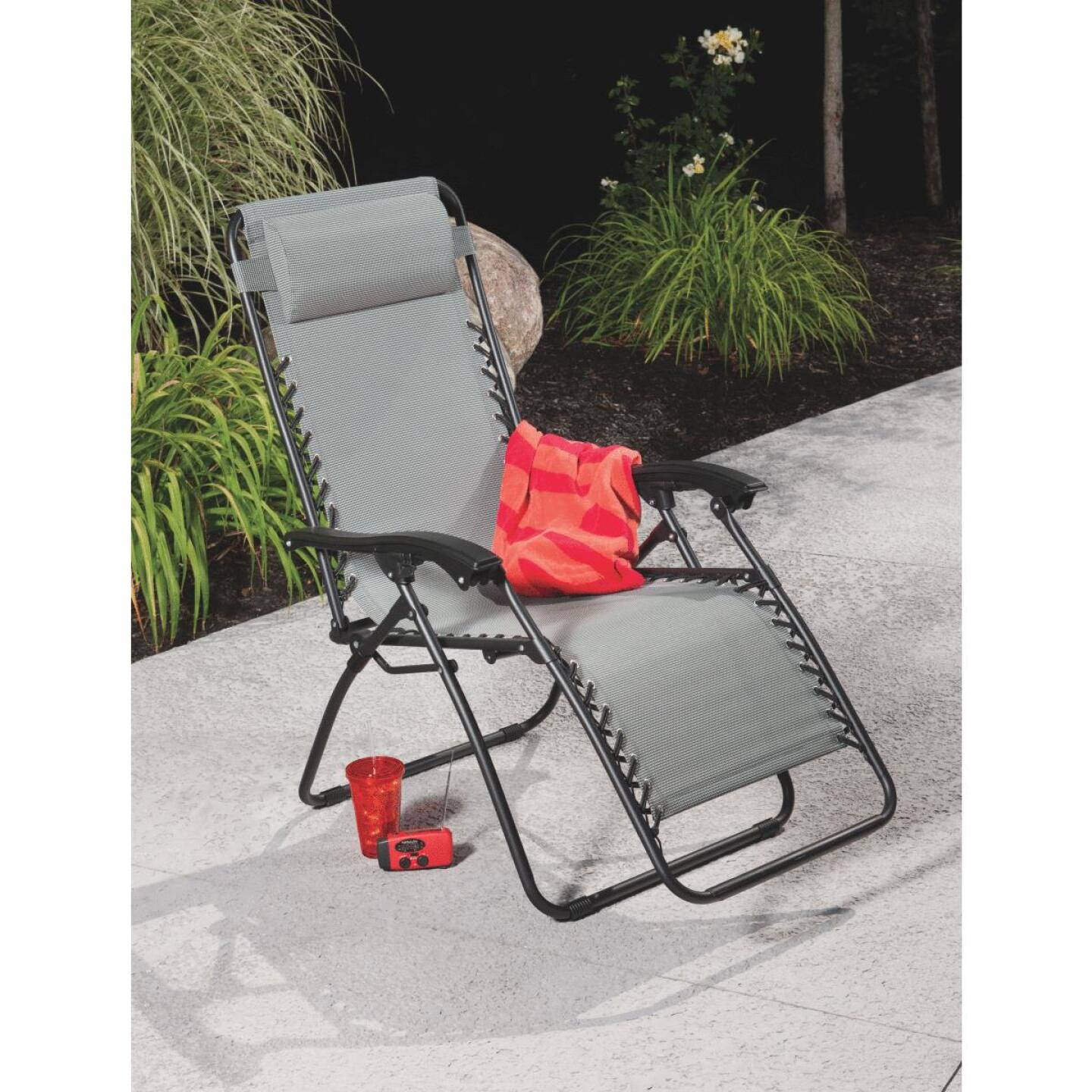 Outdoor Expressions Seville Gray Convertible Lounge Chair Image 5