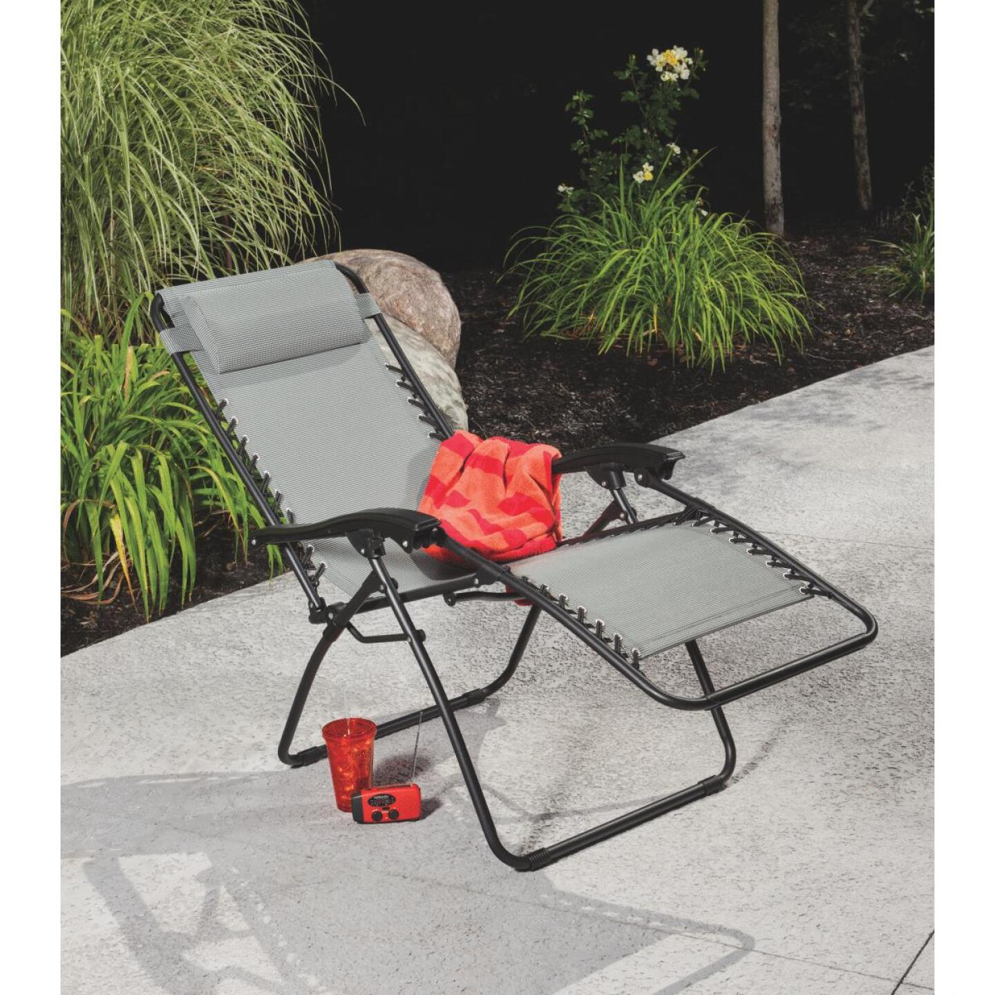 Outdoor Expressions Seville Gray Convertible Lounge Chair Image 6