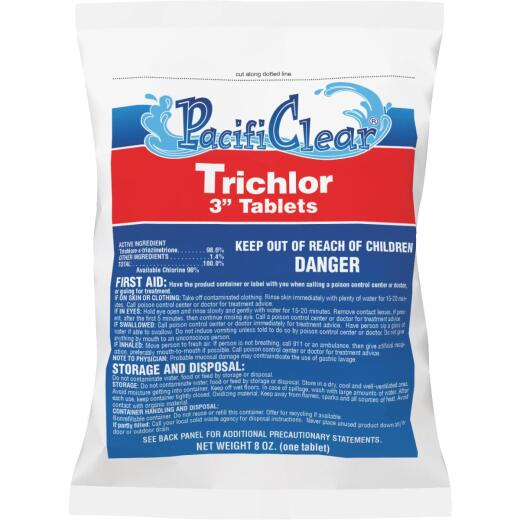 PacifiClear 3 In. 8 Oz. Trichlor Chlorine Tablet