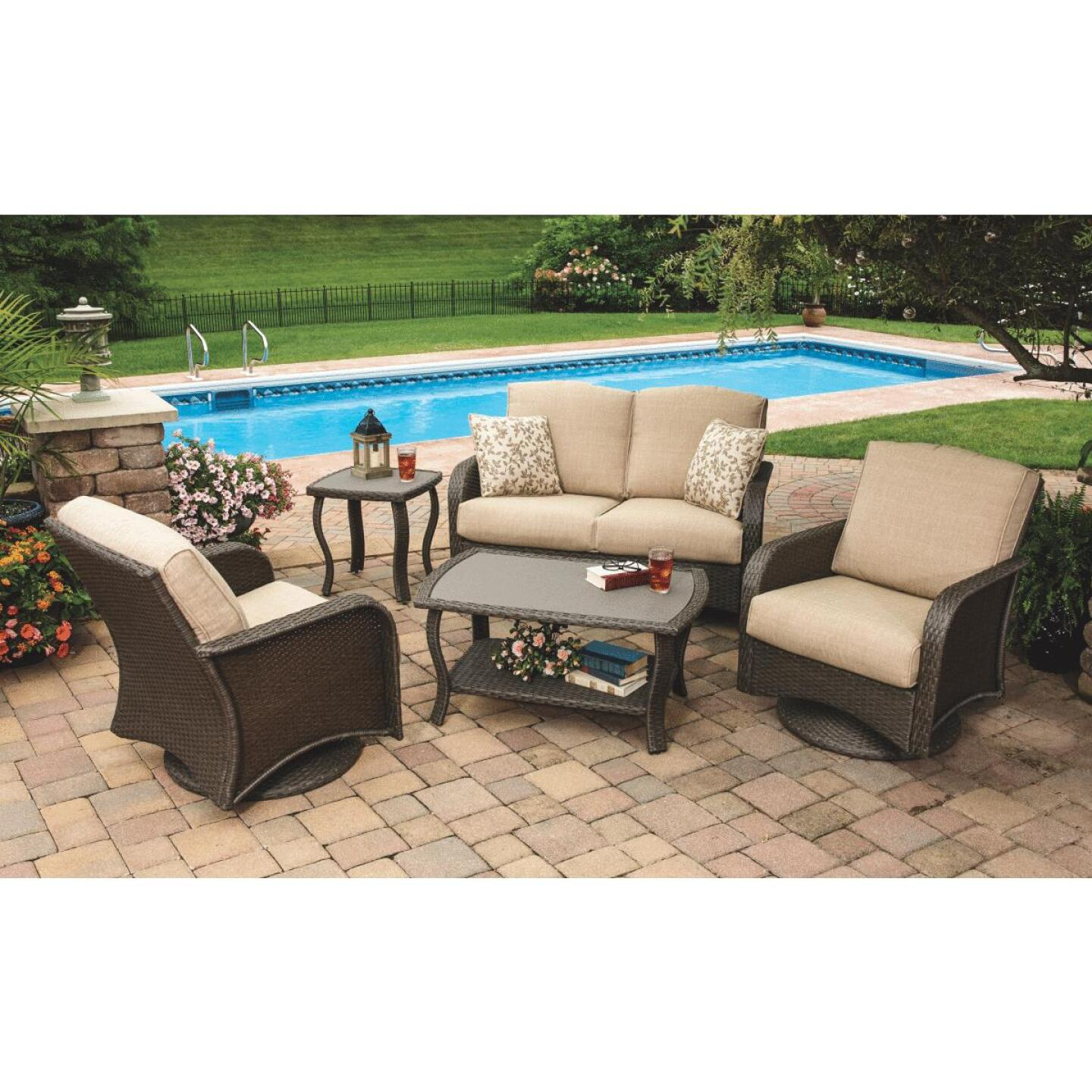 Pacific Casual Tiara Garden 2-Person Love Seat with Coffee Table Image 10
