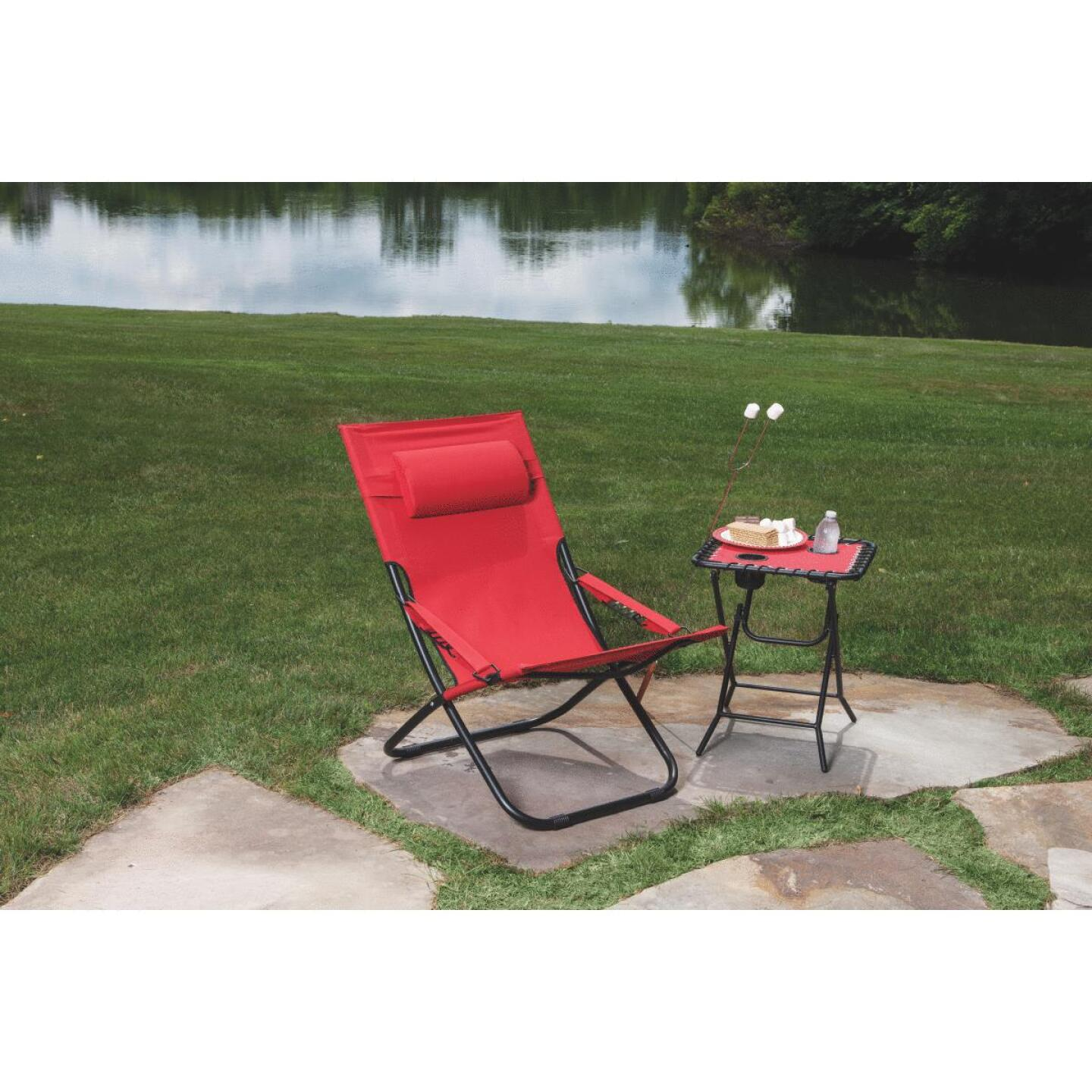 Outdoor Expressions Folding Red Hammock Chair with Headrest Image 4