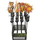 Moonrays Garden Friends Metal & Glass 27 In. H. Solar Stake Light Image 2