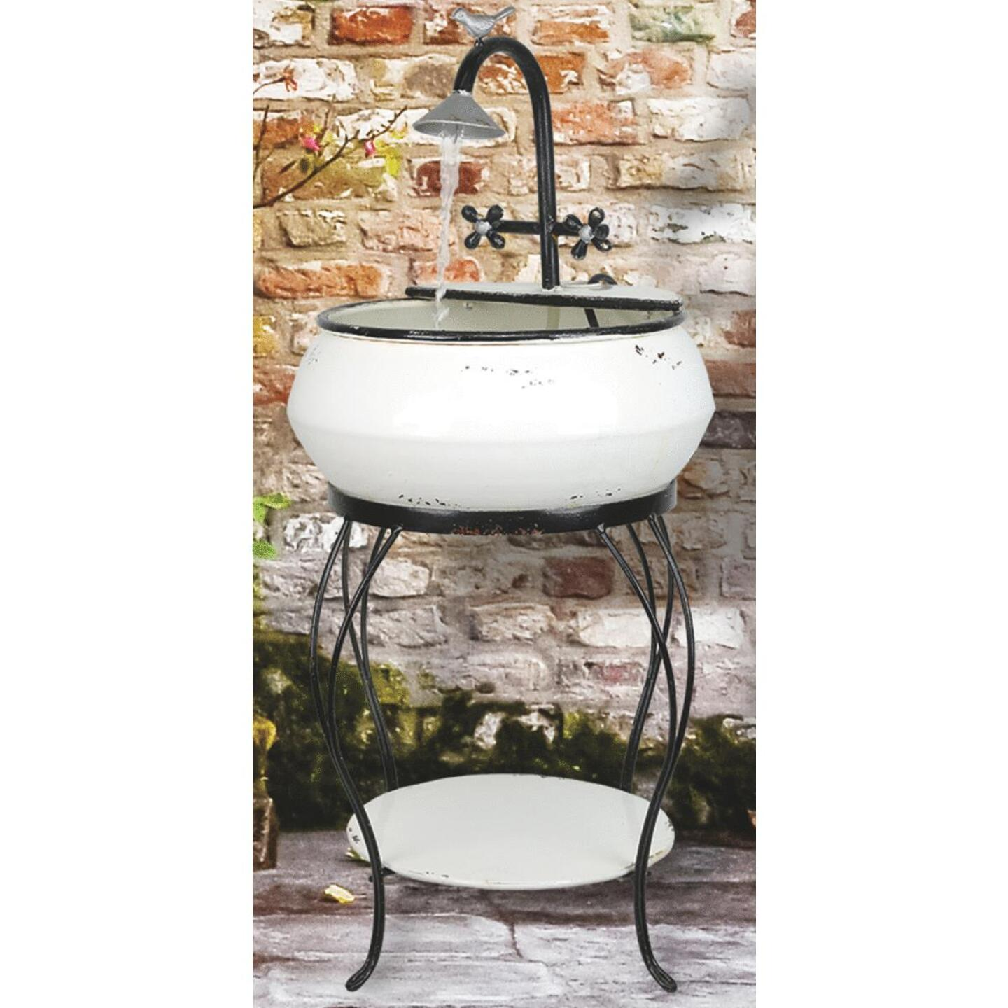 Alpine 16 In. W. x 32 In. H. x 16 In. L. Iron Vintage Sink Fountain Image 1