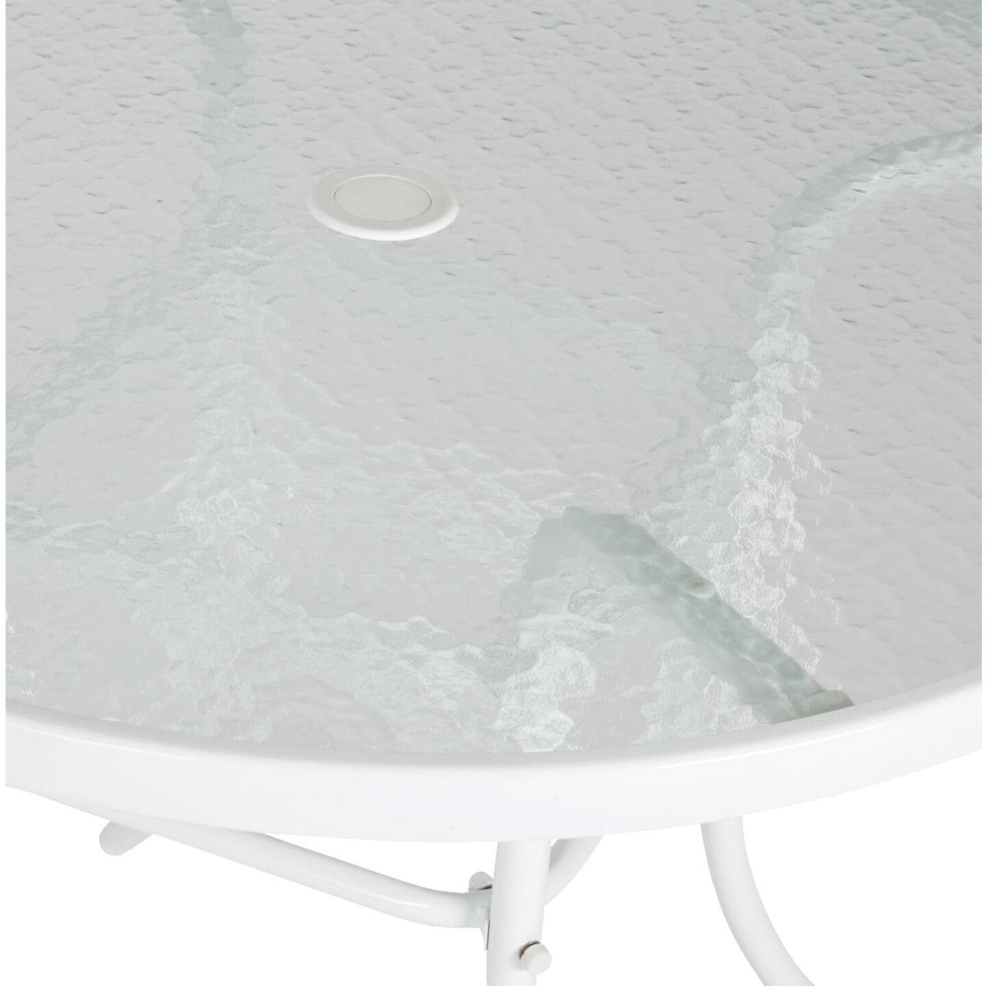 Outdoor Expressions 35 In. Round White Steel Table Image 2