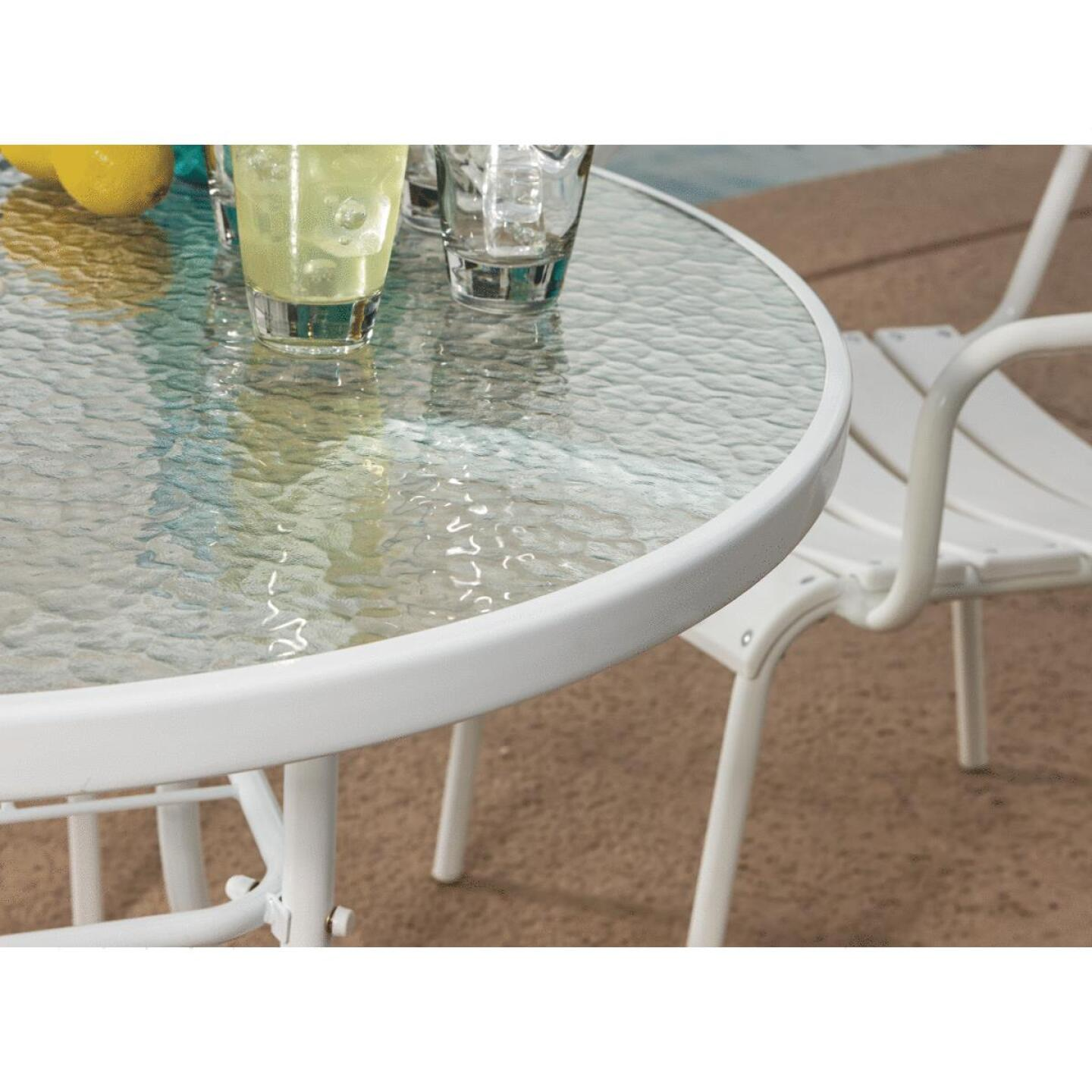 Outdoor Expressions 35 In. Round White Steel Table Image 6