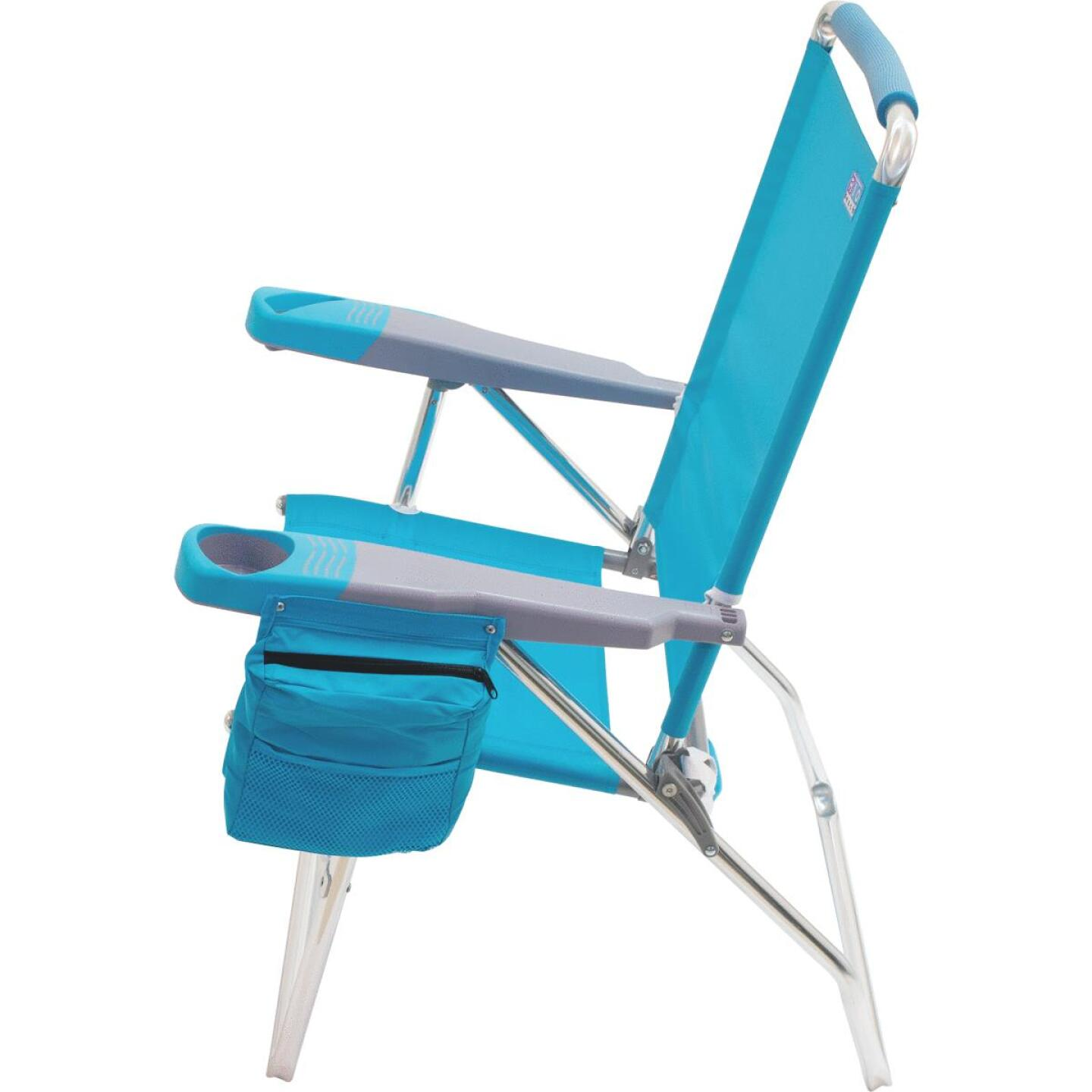 Rio Brands 4-Position Aluminum Folding Beach Chair with Cooler Image 7