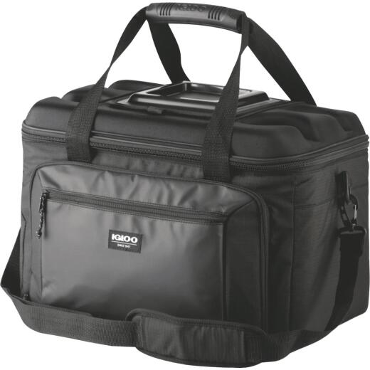 Igloo Outdoorsman 50-Can Collapsible Soft-Side Cooler, Black