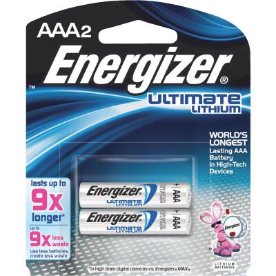 Energizer AAA Ultimate Lithium Battery (2-Pack)