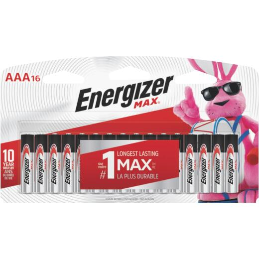 Energizer Max AAA Alkaline Battery (16-Pack)