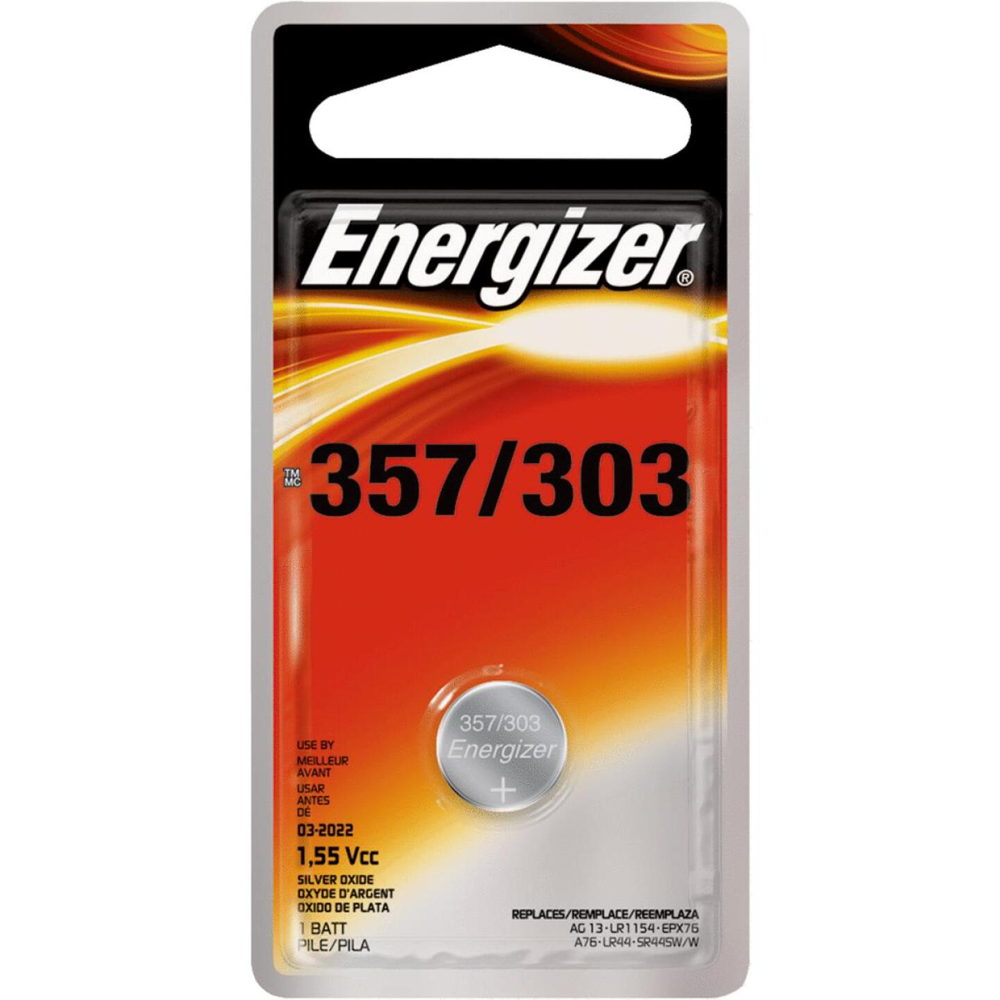Energizer 357/303 Silver Oxide Button Cell Battery (3-Pack) Image 1