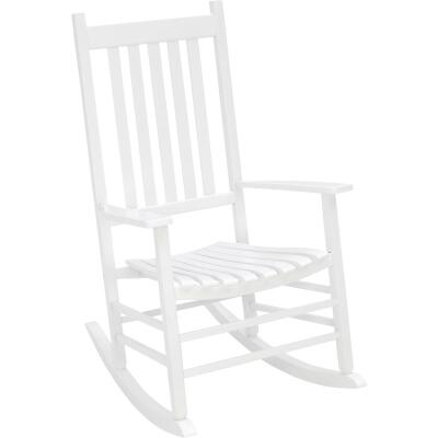 Jackpost White Wood Mission Rocking Chair