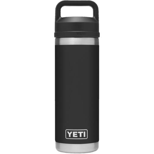 Yeti Rambler 18 Oz. Black Stainless Steel Insulated Vacuum Bottle with Chug Cap