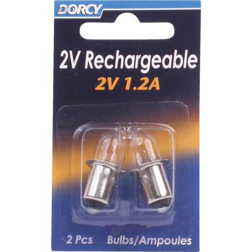 Dorcy 2V Krypton Replacement Flashlight Bulb (2-Pack)