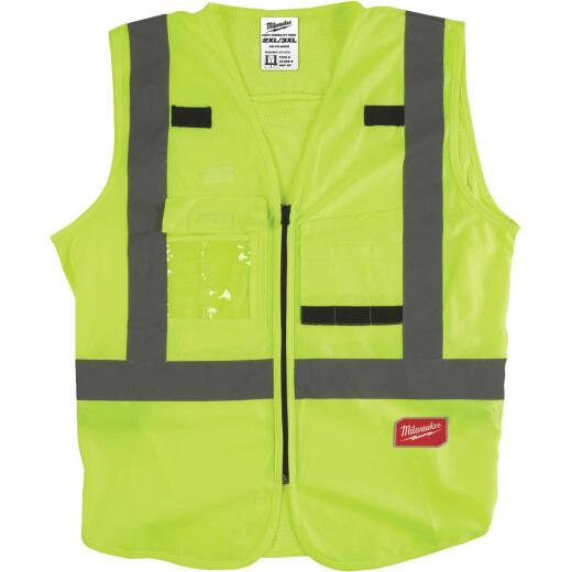Milwaukee ANSI Class 2 Hi Vis Yellow Safety Vest 2XL/3XL