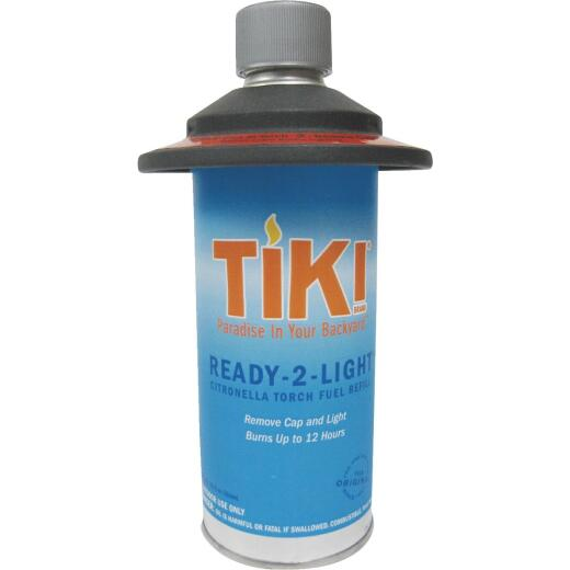 Tiki Ready-2-light 12 Oz. Metal Fuel Canister with Torch Fuel