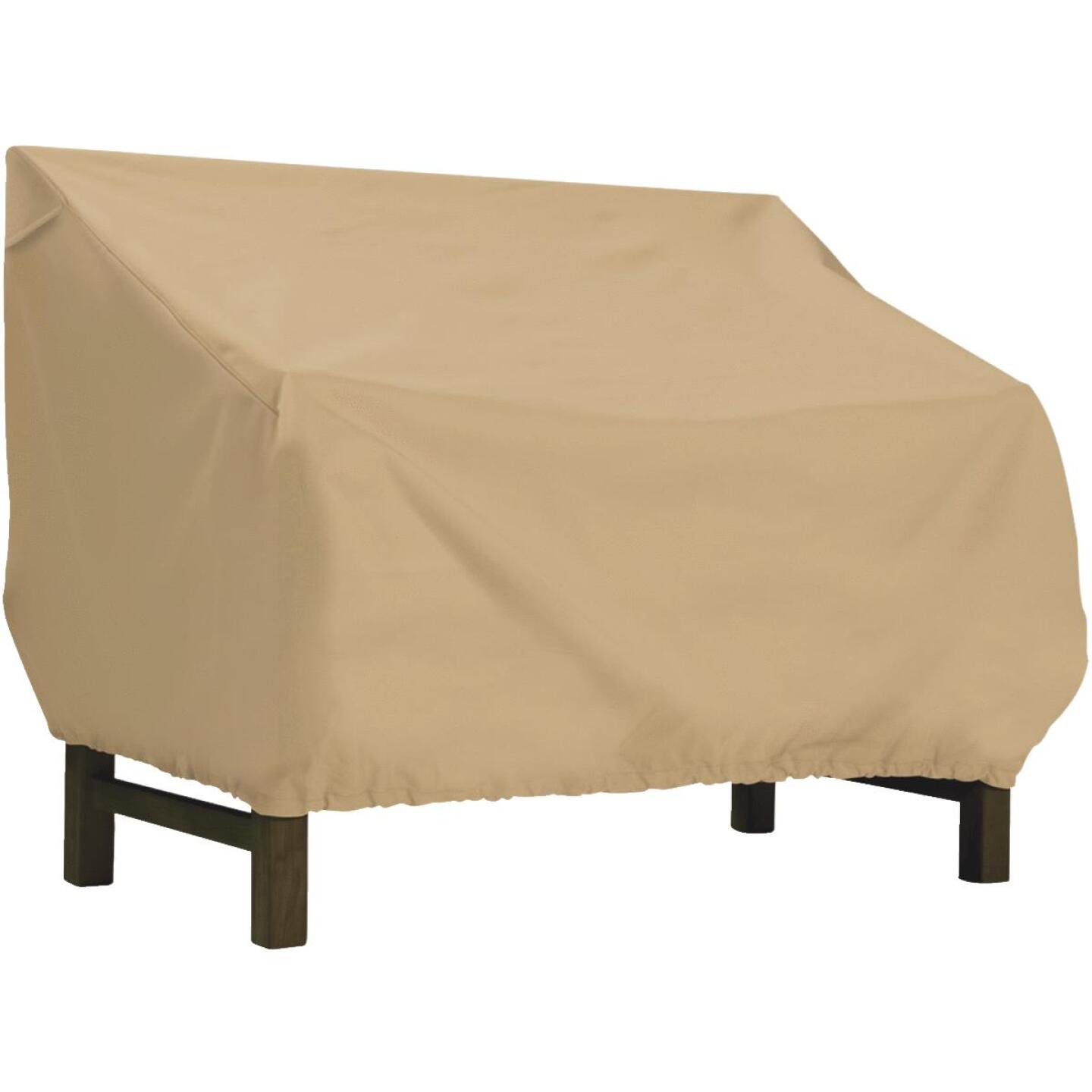 Classic Accessories 32 In. W. x 31 In. H. x 75 In. L. Tan Polyester/PVC Bench/Glider Cover Image 1