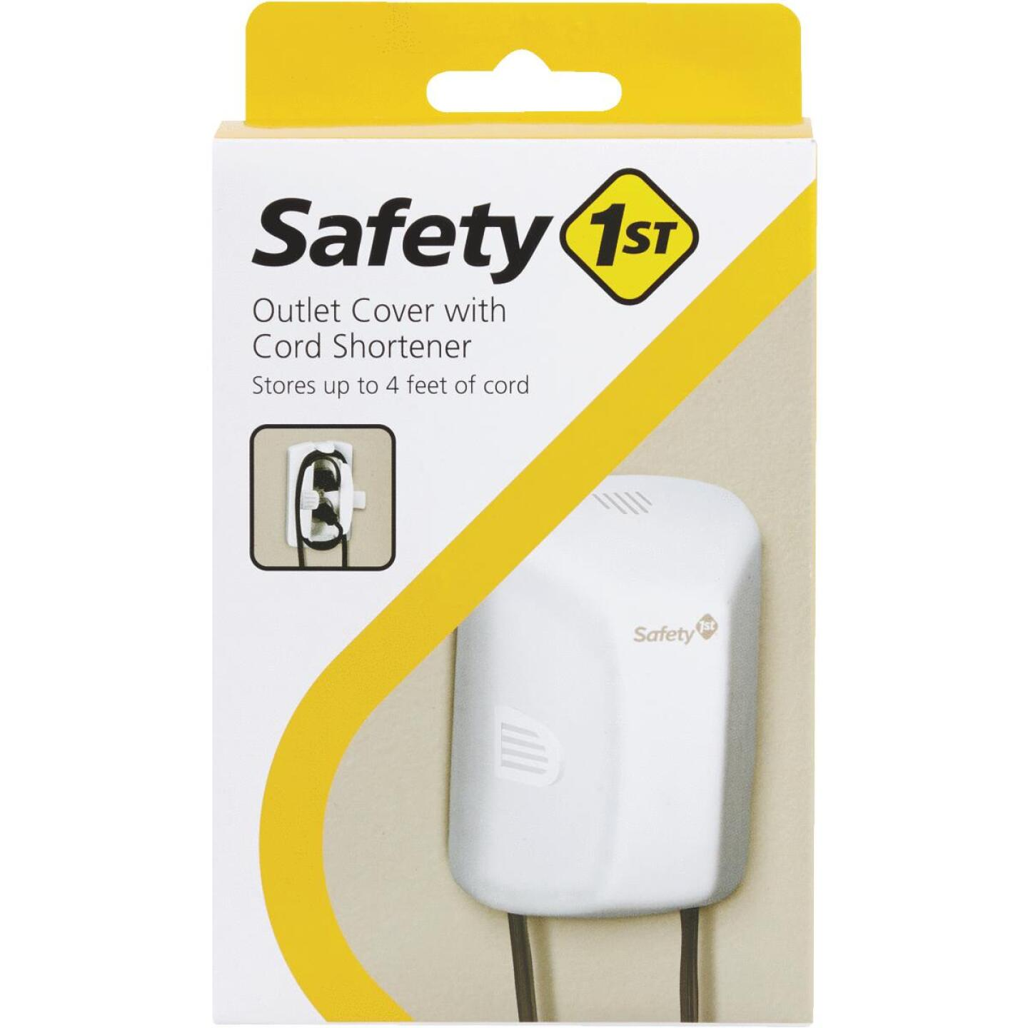 Safety 1st White Plastic Outlet Cover w/Cord Shortener Image 2