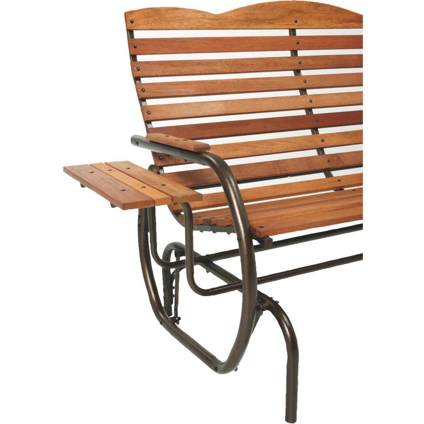 Jack Post Country Garden Bronze Hi-Back Glider with Tray Image 3