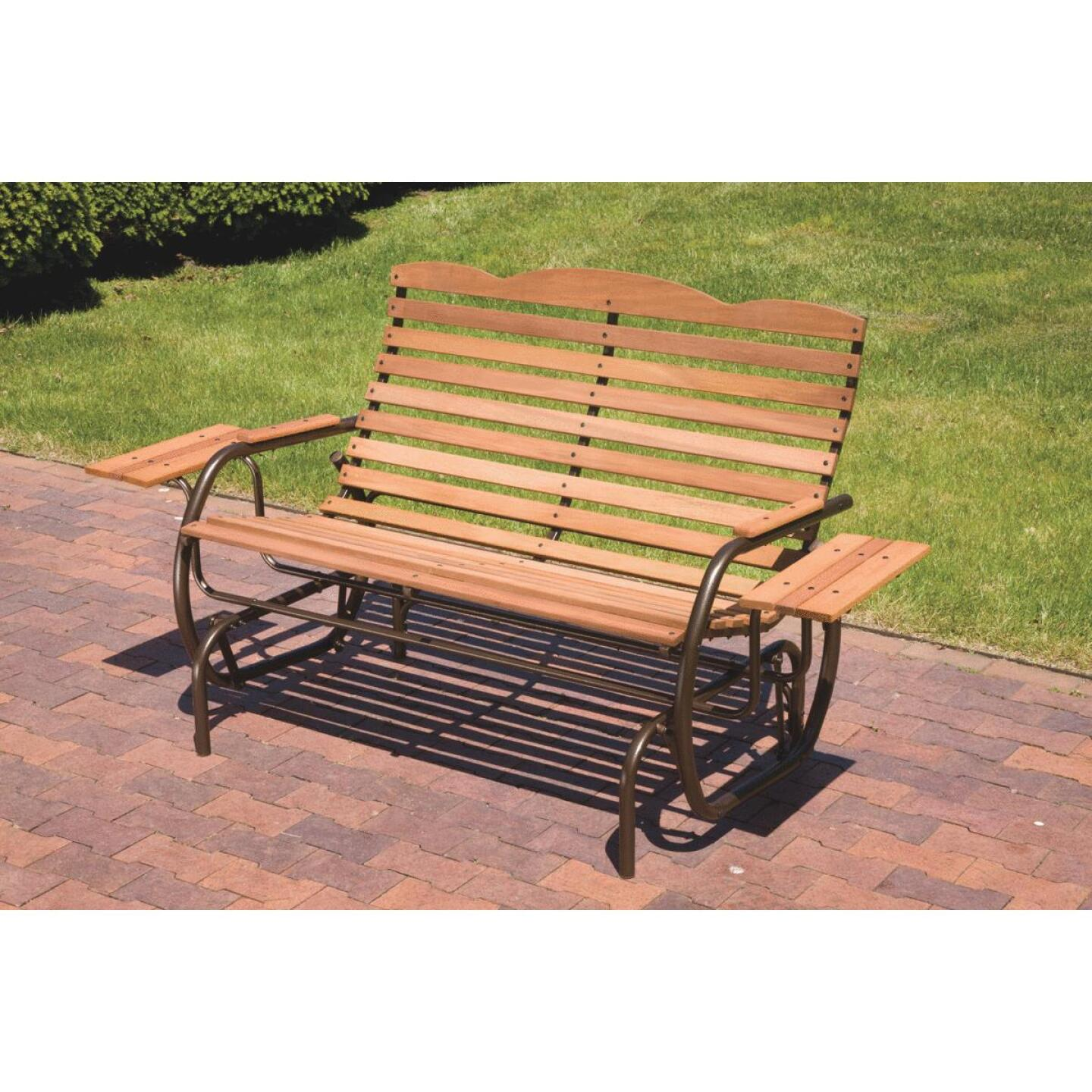 Jack Post Country Garden Bronze Hi-Back Glider with Tray Image 5