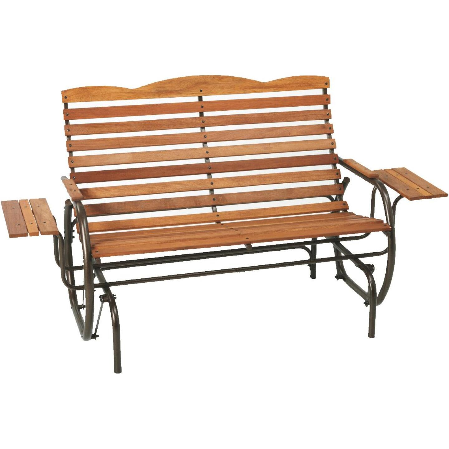 Jack Post Country Garden Bronze Hi-Back Glider with Tray Image 1