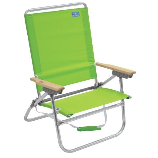 Rio Brands Beach 4-Position Assorted Colors Aluminum Folding Beach Chair