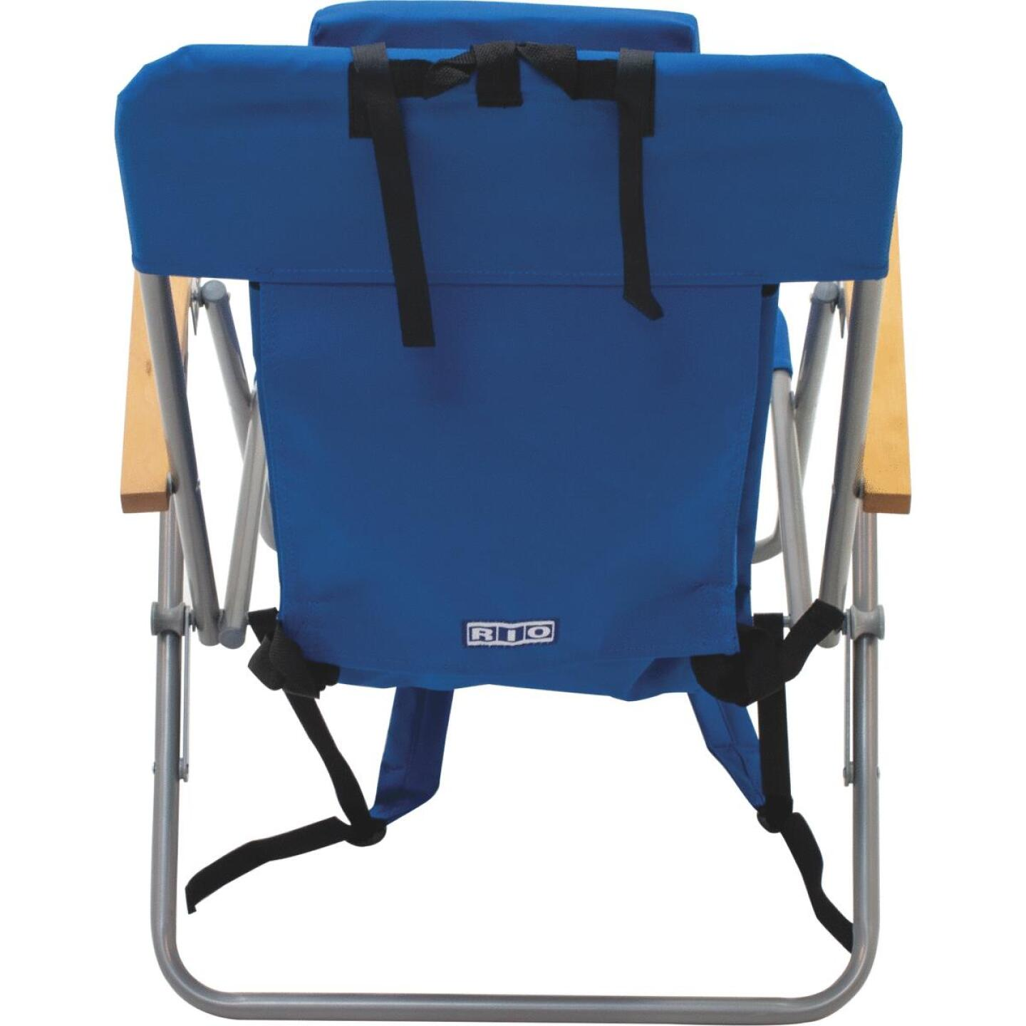 Rio Brands Blue Canvas Backpack Folding Chair Image 3