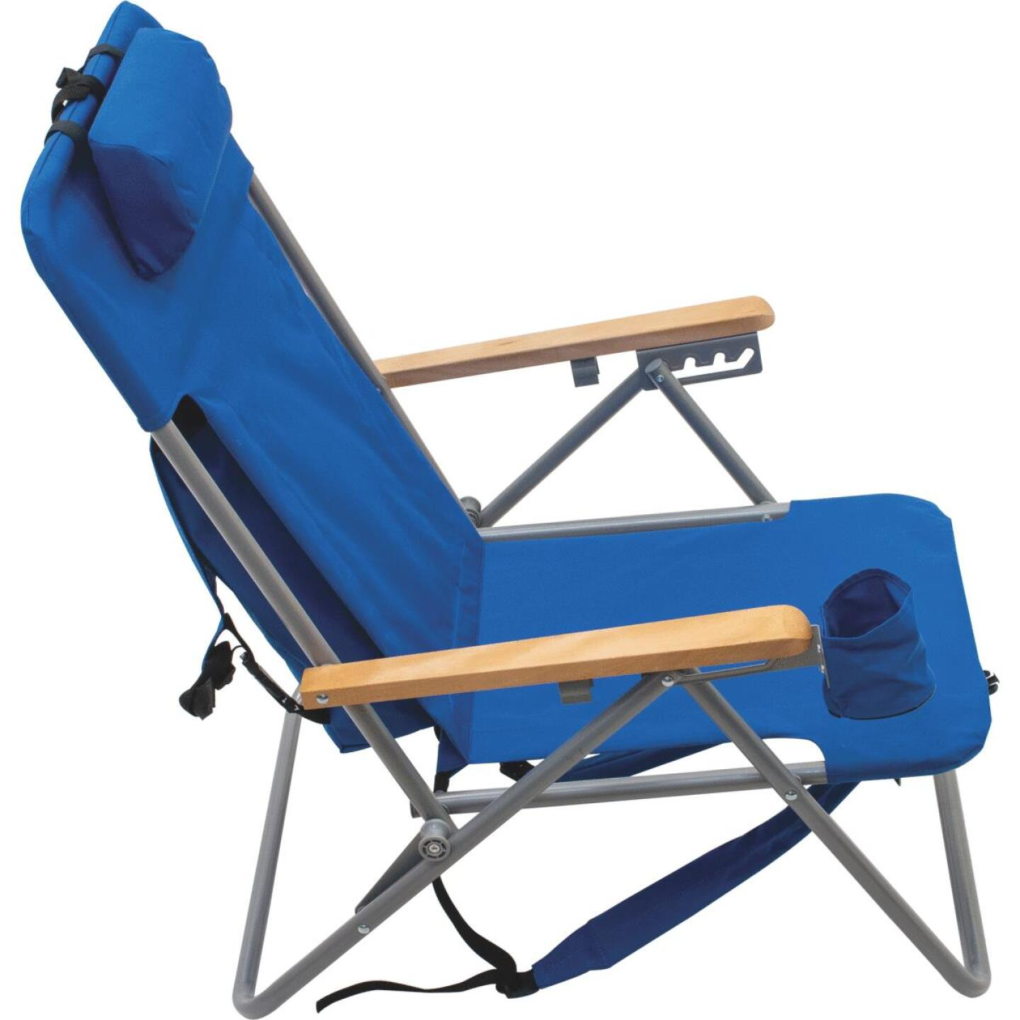 Rio Brands Blue Canvas Backpack Folding Chair Image 4