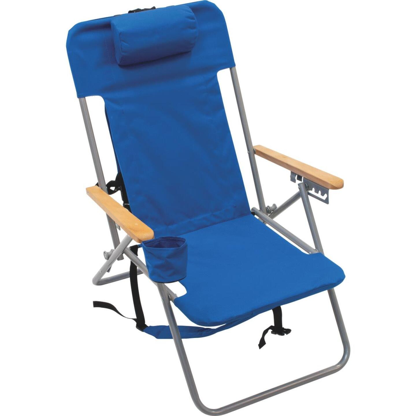 Rio Brands Blue Canvas Backpack Folding Chair Image 1