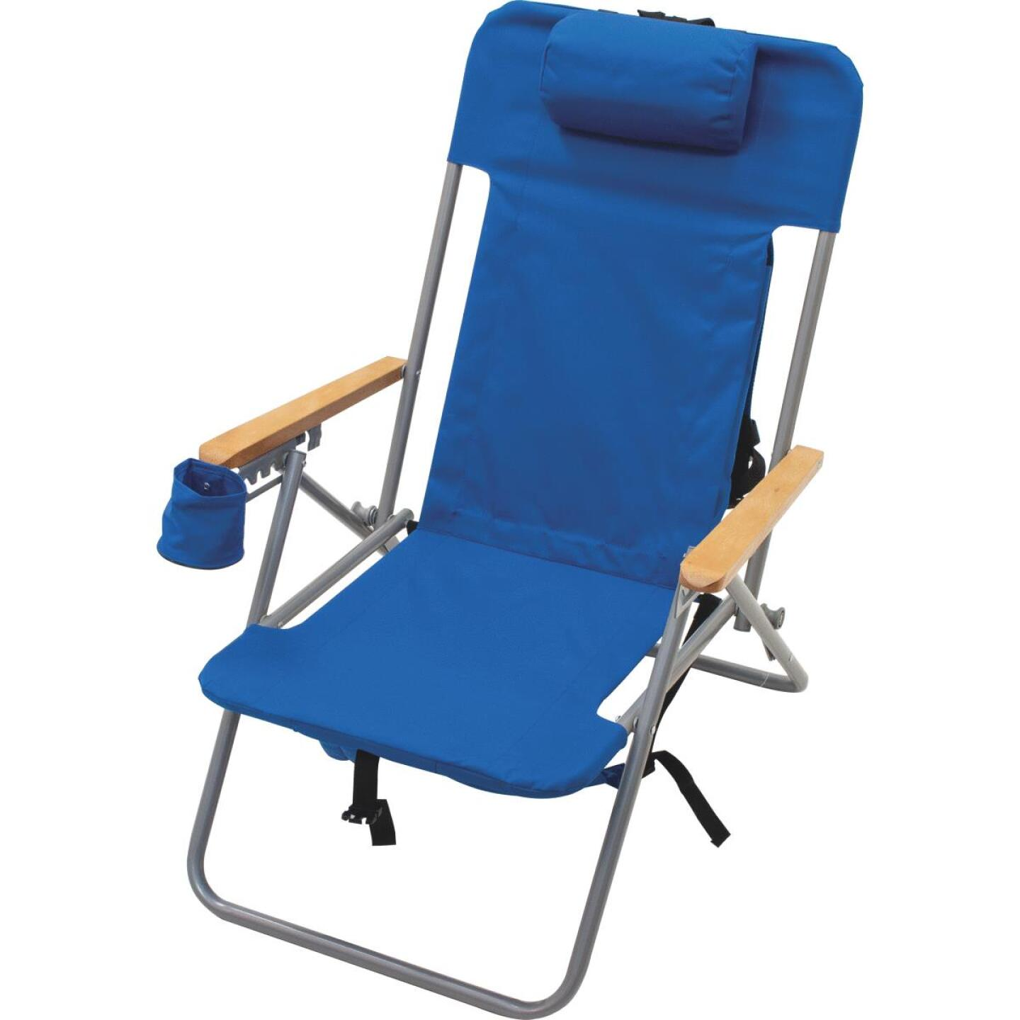 Rio Brands Blue Canvas Backpack Folding Chair Image 6