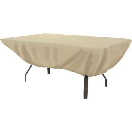 Classic Accessories 44 In. W. x 23 In. H. x 72 In. L. Tan Polyester/PVC Table Cover