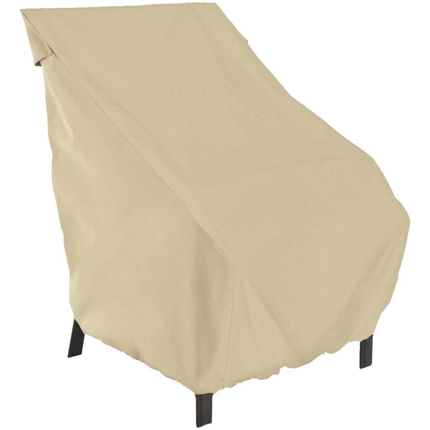 Classic Accessories 25 In. W. x 26 In. H. x 28.5 In. L. Tan Polyester/PVC Chair Cover Image 1