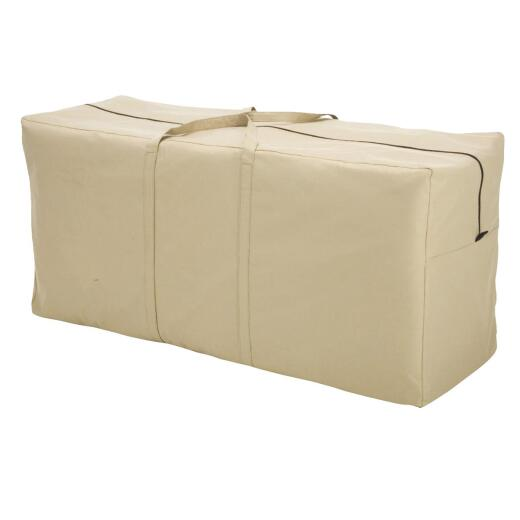Classic Accessories 16.25 In. W. x 22.5 In. H. x 48 In. L. Tan Polyester/PVC Cushion Cover