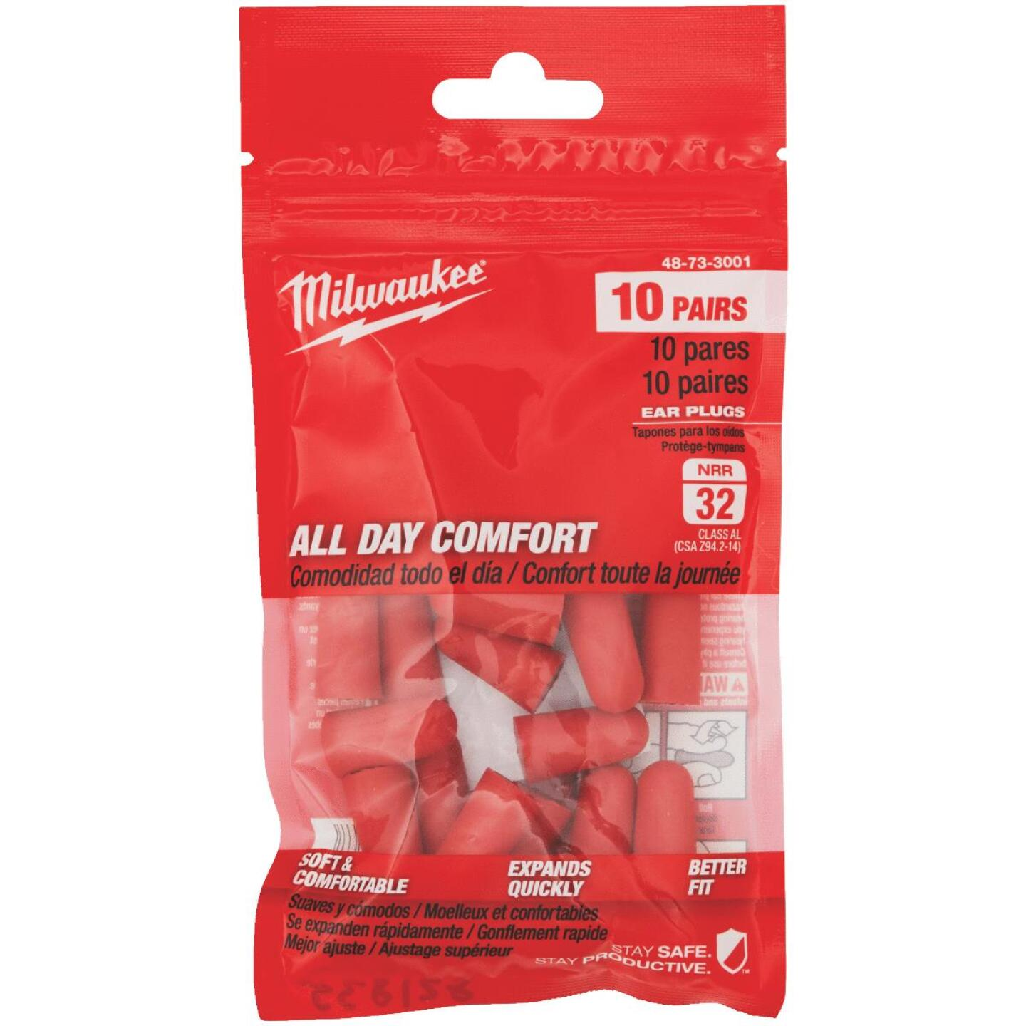 Milwaukee Foam 32 dB Ear Plugs (10-Pair) Image 1