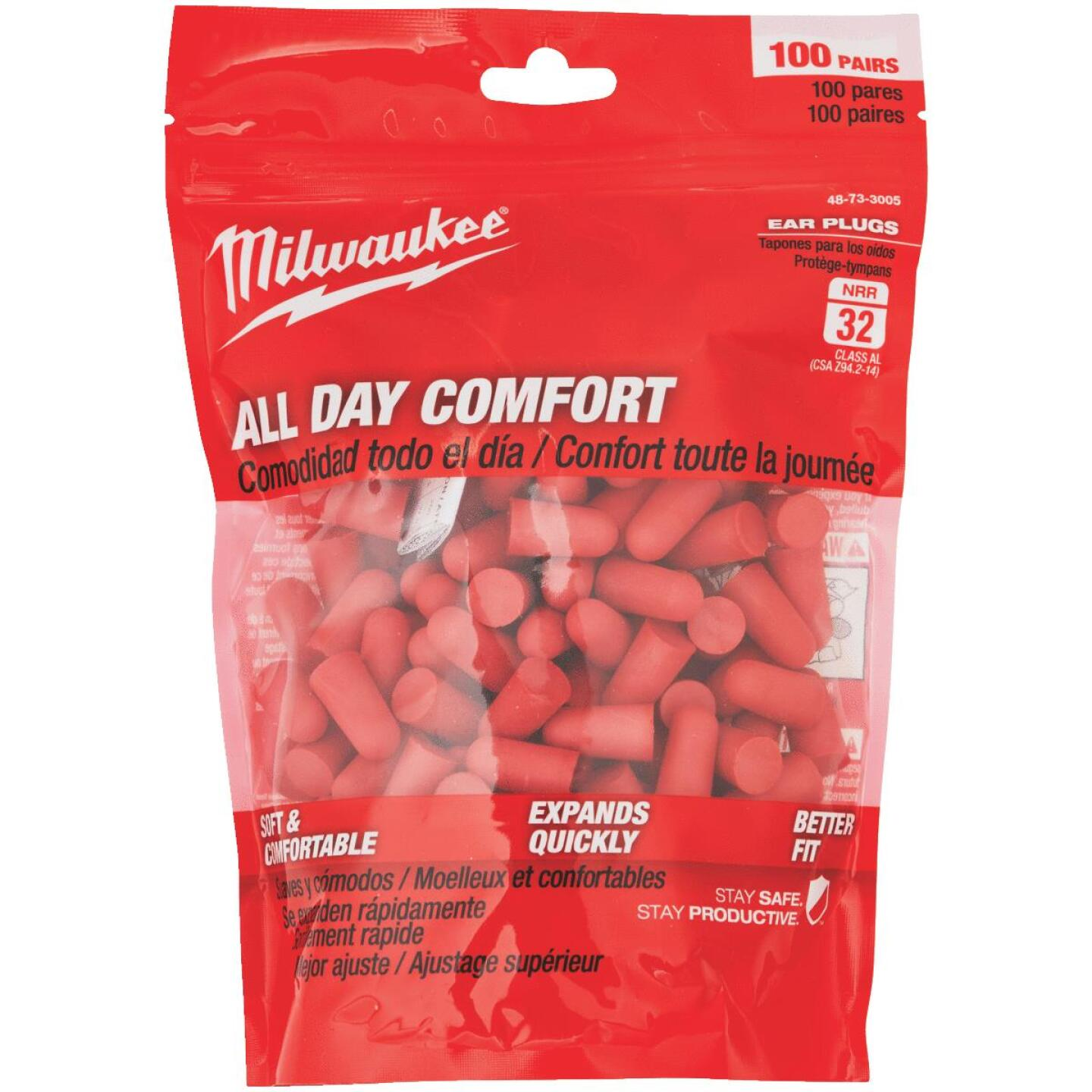 Milwaukee Foam 32 dB Ear Plugs (100-Pair) Image 1