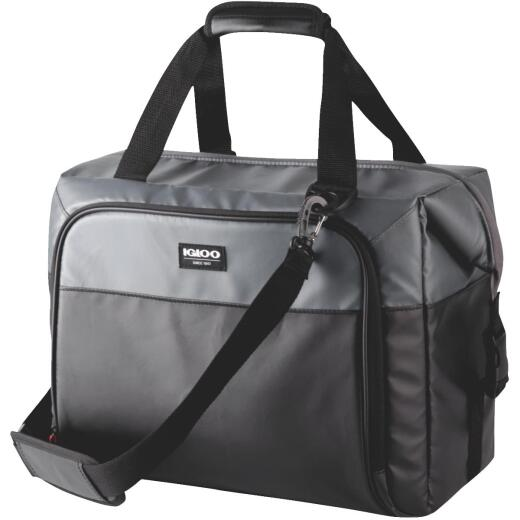 Igloo Seadrift 36-Can Snapdown Soft-Side Cooler, Black & Gray