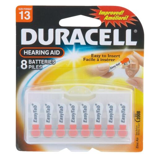 Duracell EasyTab 13 Hearing Aid Battery (8-Pack)