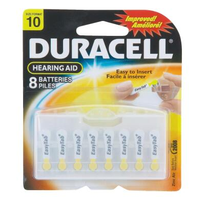 Duracell EasyTab 10 Hearing Aid Battery (8-Pack)