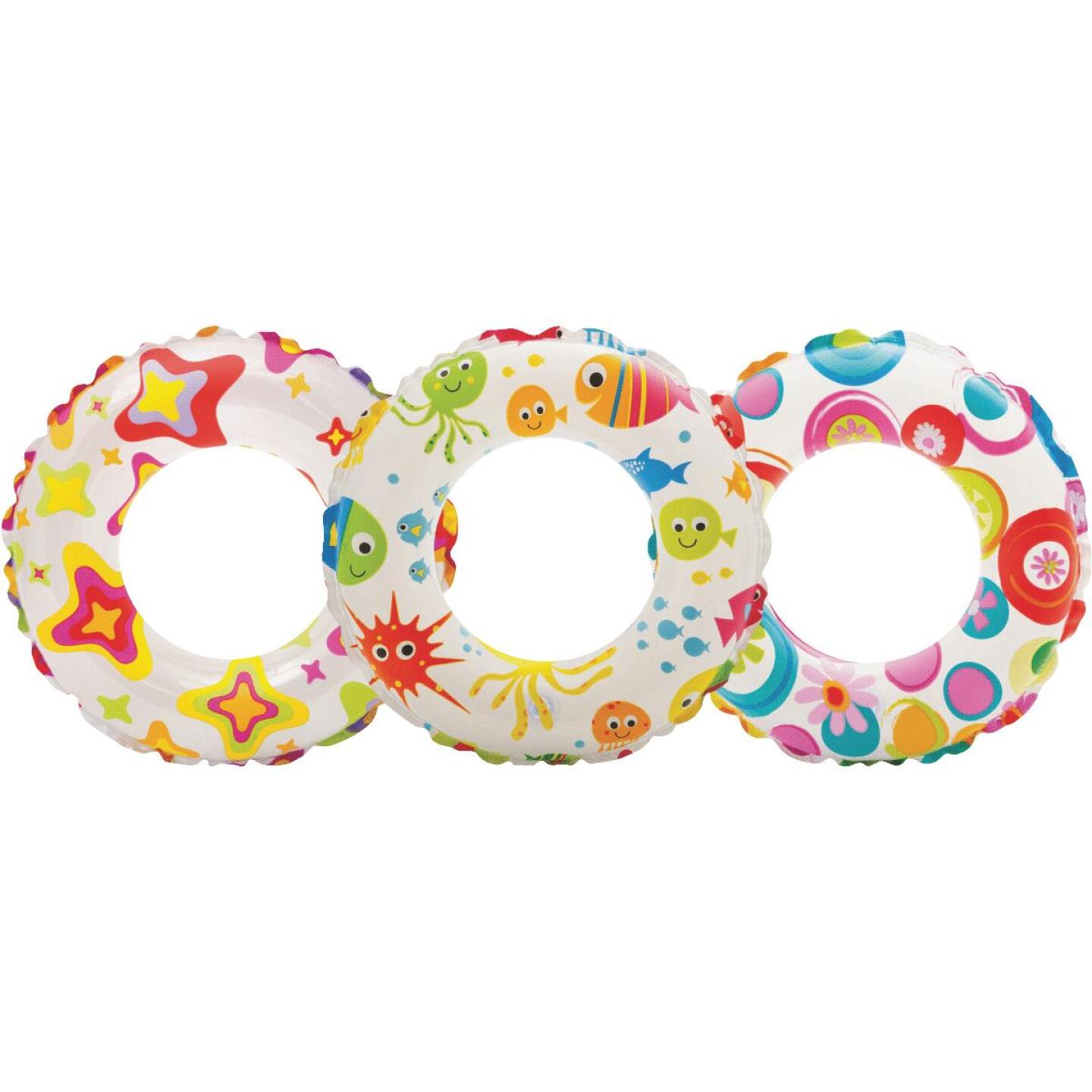 Intex 20 In. Lively Print Pool Tube Float Image 1