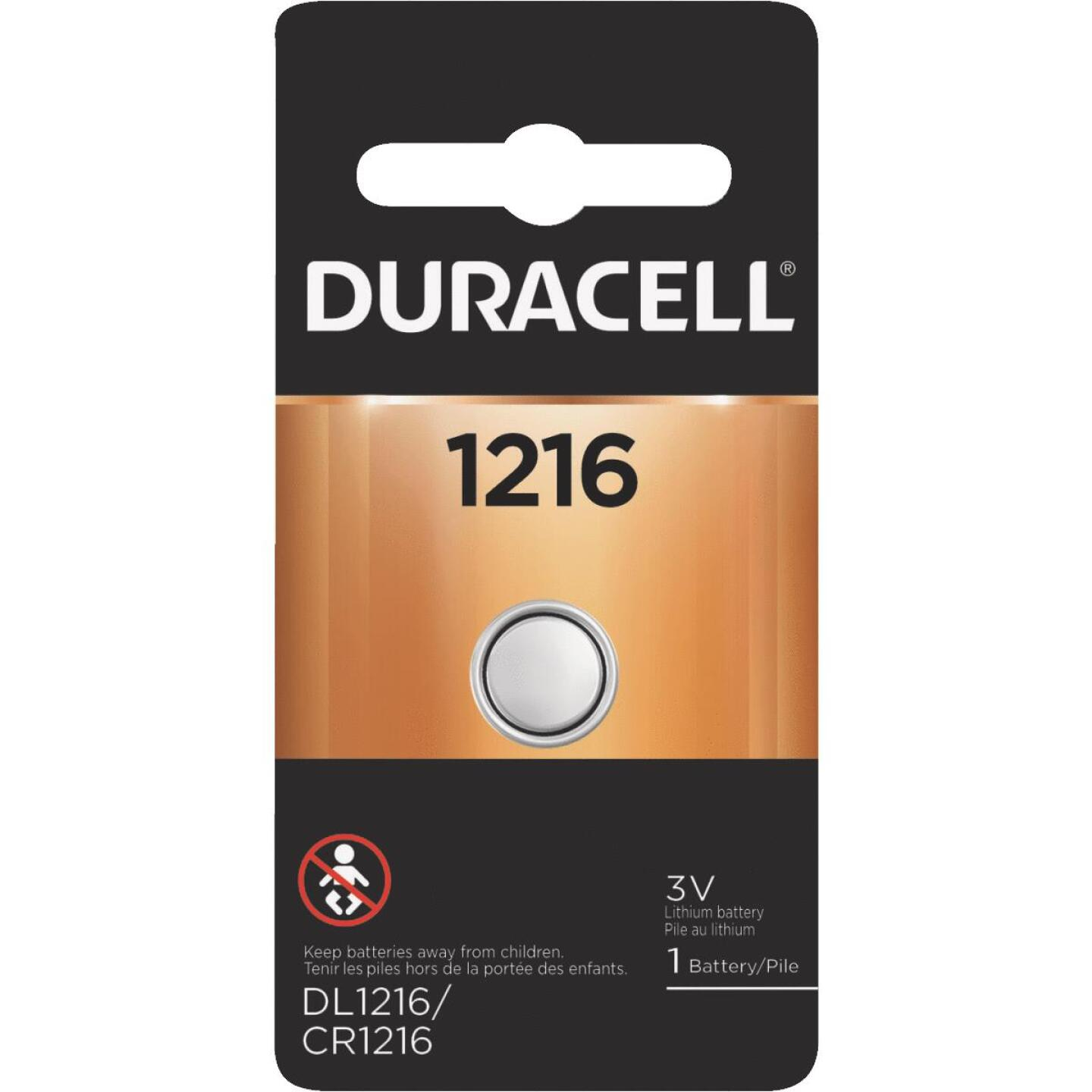 Duracell 1216 Lithium Coin Cell Battery Image 1