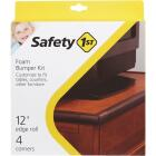 Safety 1st Adhesive Foam Brown Edge Roll and Corners Bumper Kit Image 2