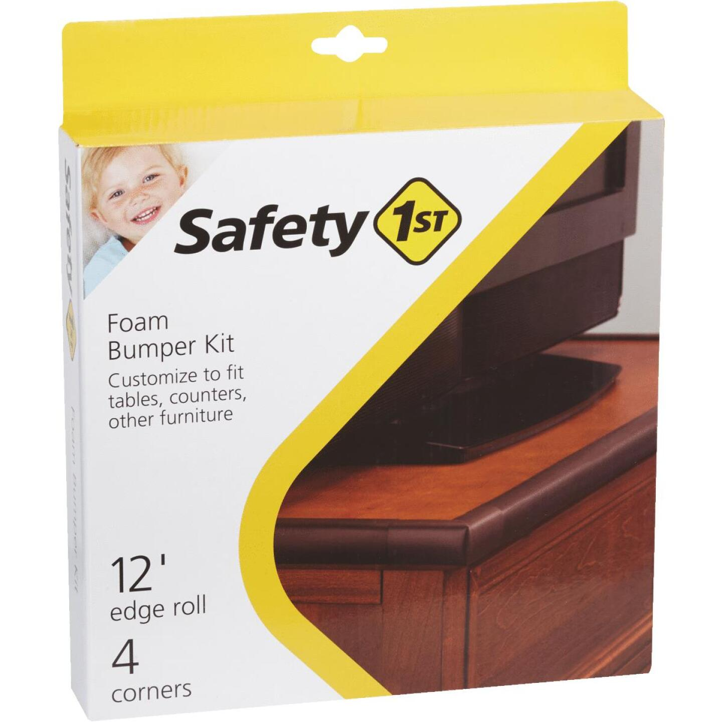 Safety 1st Adhesive Foam Brown Edge Roll and Corners Bumper Kit Image 1