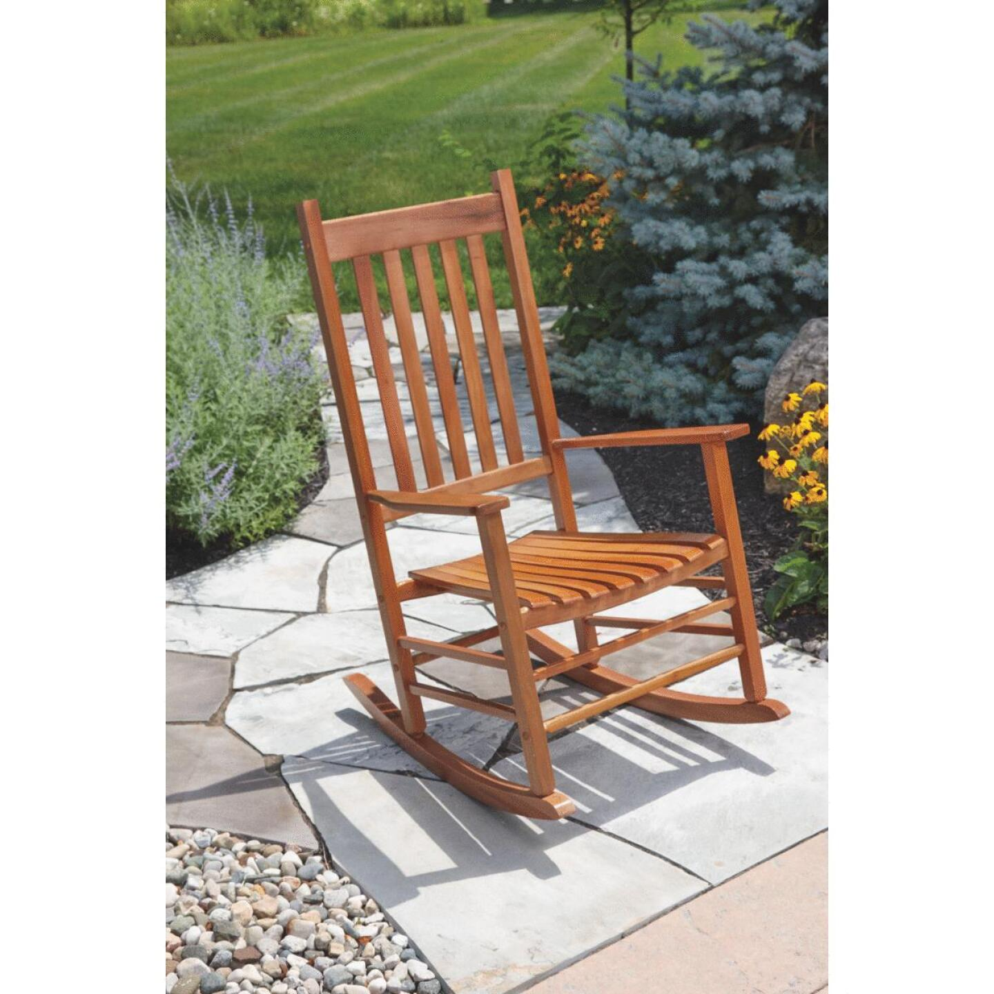 Jackpost Natural Wood Mission Rocking Chair Image 3