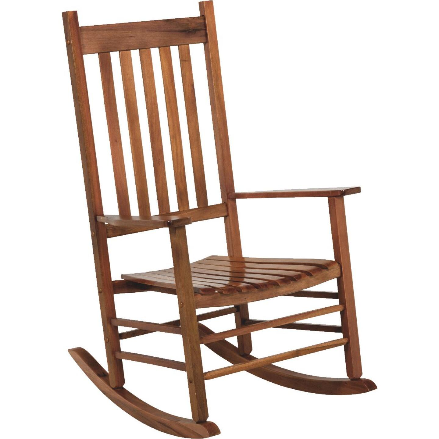 Jackpost Natural Wood Mission Rocking Chair Image 1