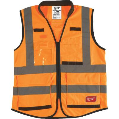 Milwaukee ANSI Class 2 Hi Vis Orange Performance Safety Vest 2XL/3XL