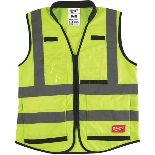 Milwaukee ANSI Class 2 Hi Vis Yellow Performance Safety Vest Small/Medium