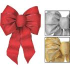Holiday Trims 7-Loop 8-1/2 In. W. x 14 In. L. Assorted Glitter Christmas Bow Image 1