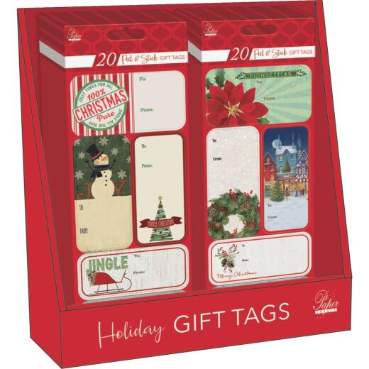 Paper Images Assorted Christmas Gift Tags (20-Pack)