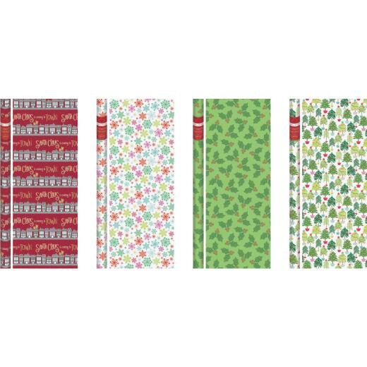 Paper Images Contemporary 40 In. Christmas Gift Wrapping Paper